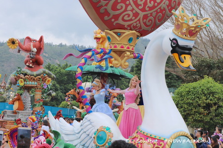 HKDL Flights of Fantasy Parade プリンセス2