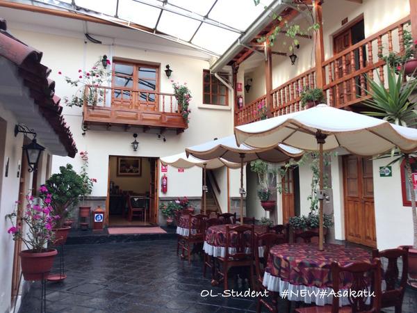 ペルー ミドリホテル ロビー