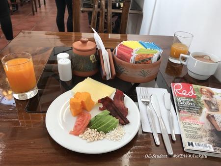 クスコ ホテルルミプンク フルーツ キヌア