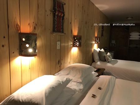 ホテルルミプンク ベッド