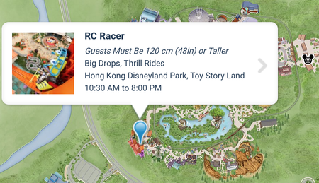 HKDL TOYSTORY LAND MAP