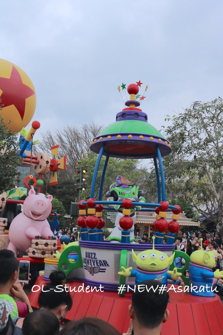 HKDL Flights of Fantasy Parade トイストーリー1