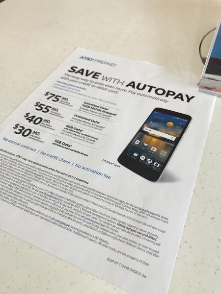 AT&T prepaid plan プリペイドプラン