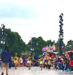 上海ディズニーランド 昼パレード 始め