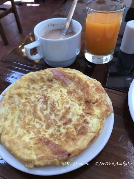 クスコ ホテルルミプンク 食べ物 スペイン風オムレツ