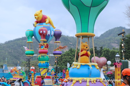 HKDL Flights of Fantasy Parade プーさん