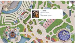 上海ディズニーランド 十二支地図