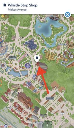上海ディズニーランド ダフィーショップ 老车站商店 地図
