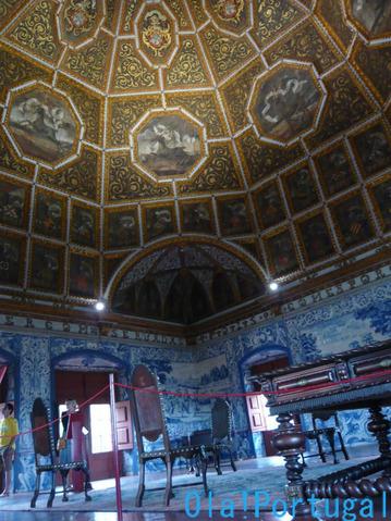 ポルトガル旅行記:シントラの王宮(白鳥の間)