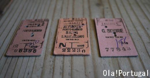 ポルトガル国鉄CPの古い切符