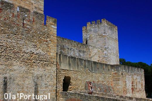ポルトガル古城巡り:Castelo de Sao Jorge サン・ジョルジェ城