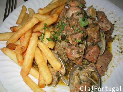 ポルトガル料理:カルネ・デ・ポルコ・ア・アレンテージャーナ