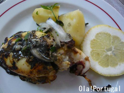ポルトガル料理:Chocos frescos com tinta grelhar