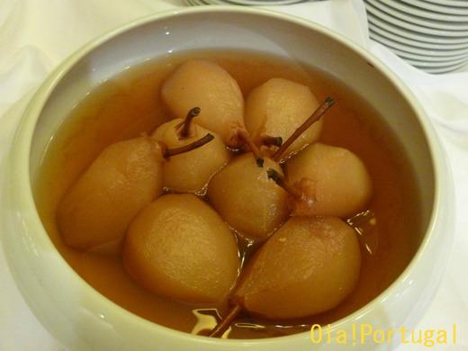 ポルトガル料理(デザート):Compota de Pera 洋ナシのコンポート