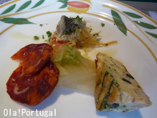 ポルトガル料理:ヴィラモウラの前菜3品