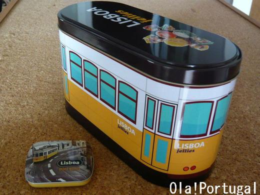 ポルトガルのお土産(リスボン市電のキャンディボックス)