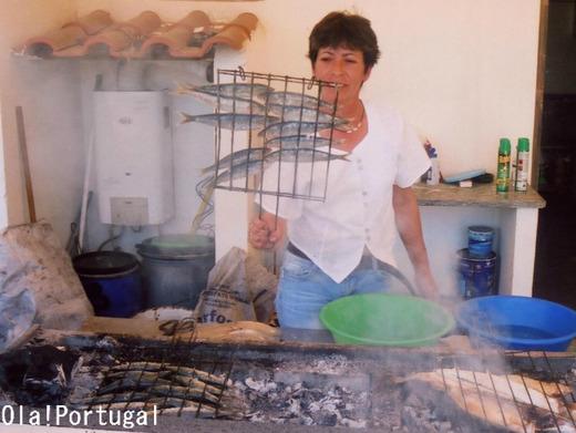 ポルトガル料理:Saldinhas Assadas サルディーニャス・アサーダス