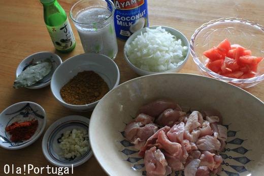 ポルトガル料理レシピ:モザンビークのカレー