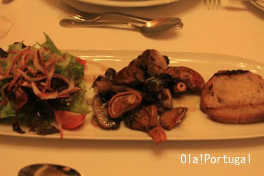 ポルトガル料理前菜:野生のキノコのシンフォニー