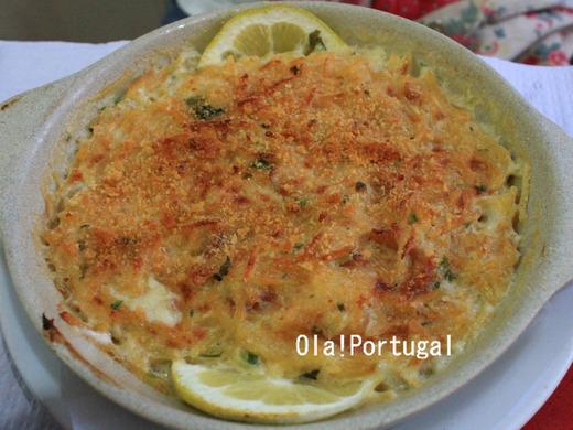 ポルトガル料理:Bacalhau com natas