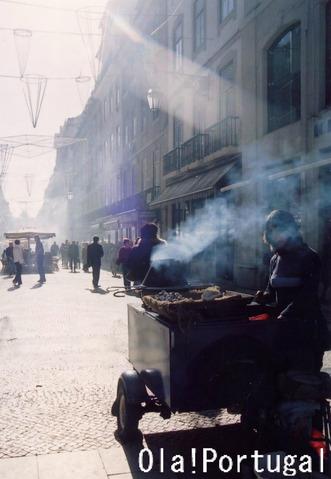 リスボン秋冬の風物詩:焼き栗
