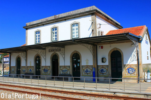 アズレージョの美しいポルトガル鉄道CPの駅:カミーニャ