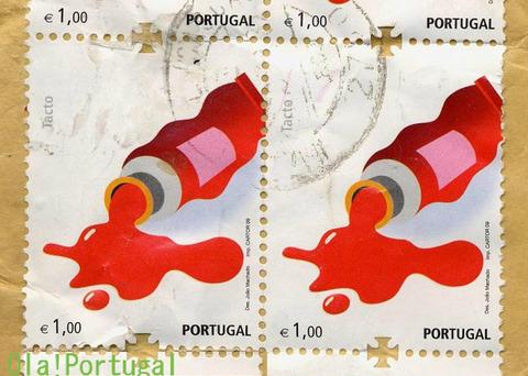 ポルトガルの切手(5感切手)