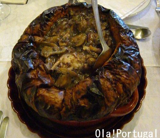 ポルトガル料理:Coelho na abobora (ウサギのシチュー)