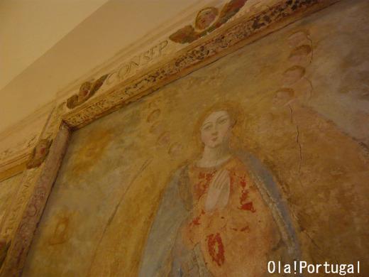ヴィラ・ヴィソーザのポザーダ:フレスコ画のあるスイートルーム