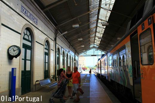 ポルトガル・スペインの国境の鉄道駅:Valenca ヴァレンサ