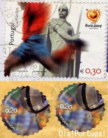 ポルトガルの切手(ユーロ2004)