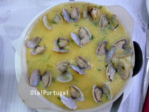 ポルトガル料理:Xarem com Ameijoas シャーレン
