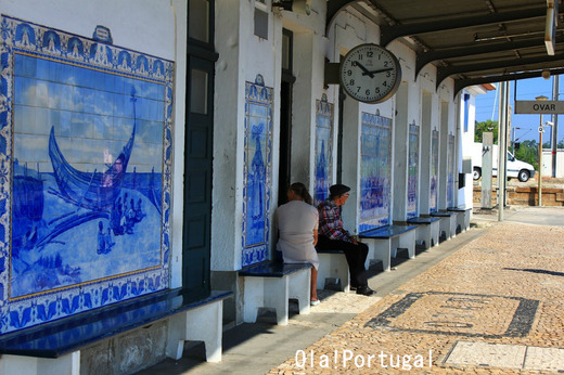 ポルトガル・アズレージョの美しい駅:Ovar オヴァール