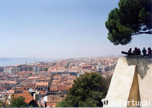リスボン:サン・ジョルジェ城からの眺め