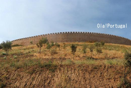 アライオロス城の丸い城壁