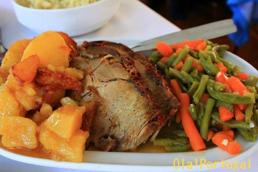 ポルトガル旅行記:ドウロ川クルーズの食事