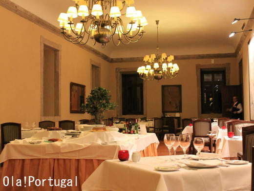 ポルトガル旅行記:ポザーダ・カステロ・デ・パルメラのお食事