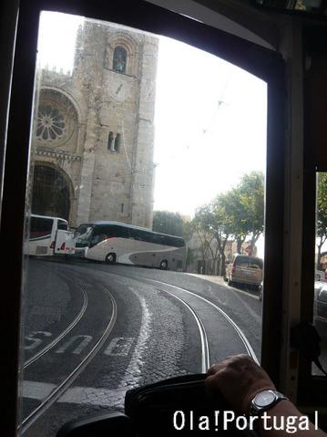 リスボン市電28番線の車窓から:大聖堂