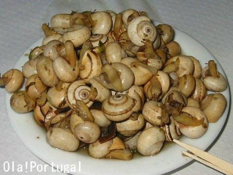 ポルトガル料理:かたつむり