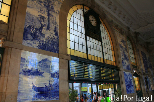ポルトガル旅行記:ポルト(アズレージョの美しいサン・ベント駅)