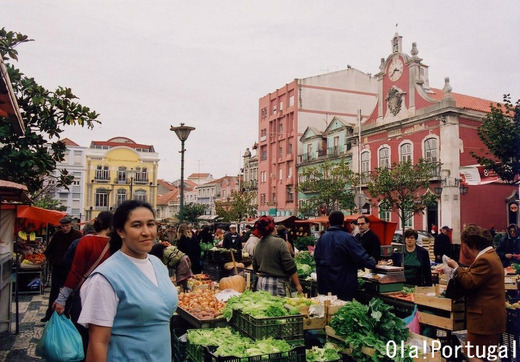 ポルトガルの露店市場:カルダス・ダ・ライーニャ