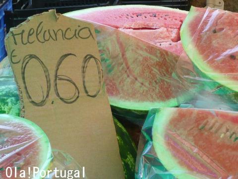 ポルトガルの果物:Melancia メランシア(スイカ)
