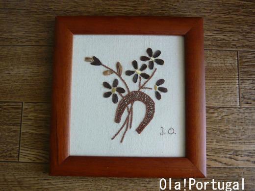 ポルトガル手工芸:栗皮の刺繍(マルヴァオン)