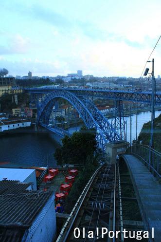 ケーブルカーから眺めるドン・ルイス1世橋