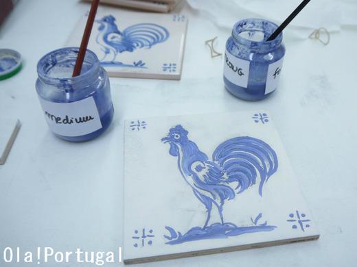 『レトロな旅時間ポルトガルへ』ではアズレージョの体験絵付けを紹介