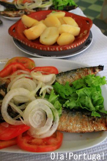ポルトガル料理:Sardinhas Assadas サルディーニャス・アサーダス