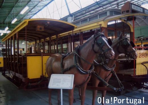 2頭だての馬引き路面電車 The
