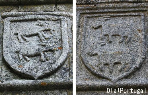 カブラル家の紋章の山羊(山羊はポルトガル語でCabra)