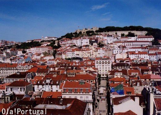 Castelo de Sao Jorge サン・ジョルジェ城とリスボン歴史地区