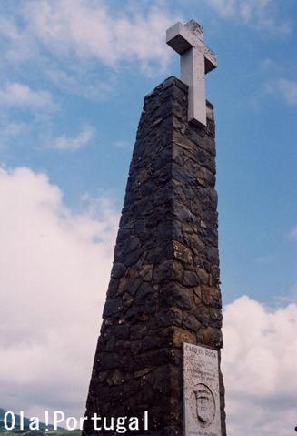 ポルトガルの詩人カモンイスが詠んだ詩の石碑